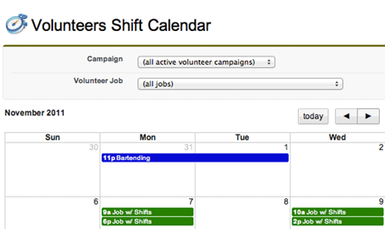 See all your shifts in a convenient view