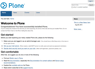 Plone 4 Sunburst screenshot